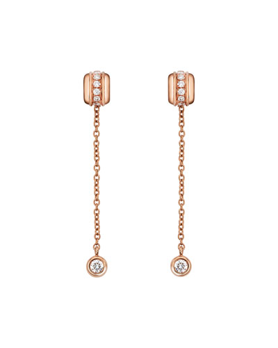 Possession Night & Day Earrings with Diamonds in 18K Red Gold
