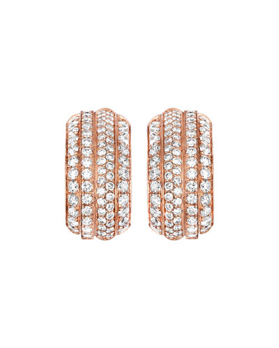 Piaget Possession Night & Day Earrings with Diamonds in 18K Red Gold H6sweYIB