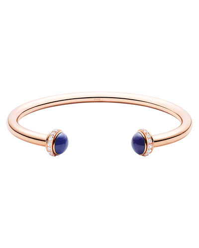 Possession Medium Lapis Cabochon Bracelet in 18K Red Gold, Size M
