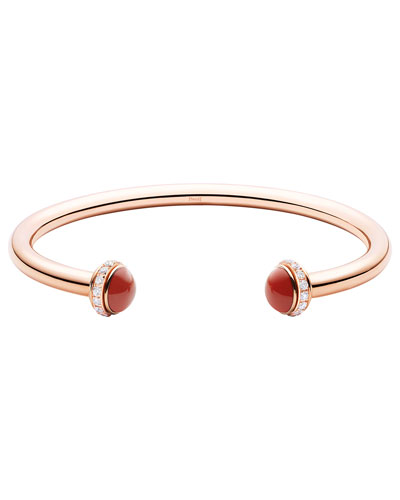 Possession Medium Lapis Carnelian Bracelet in 18K Red Gold, Size M
