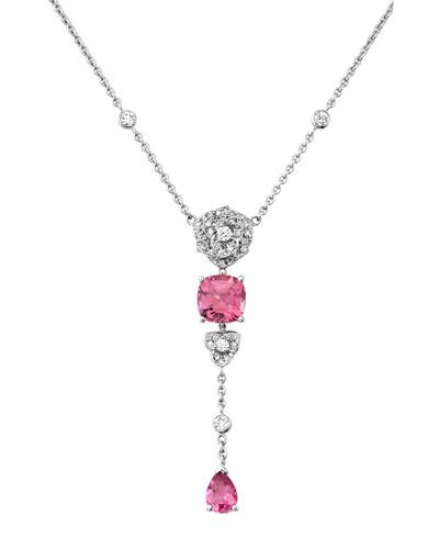 Sequin Faceted Crystal Y-Drop Necklace BmbdoxJ