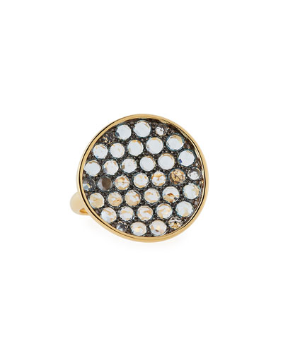 Topaz Disc Ring in 18K Yellow Gold, 6.5