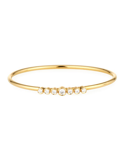 18K Gold Bracelet with Diamond Bezels