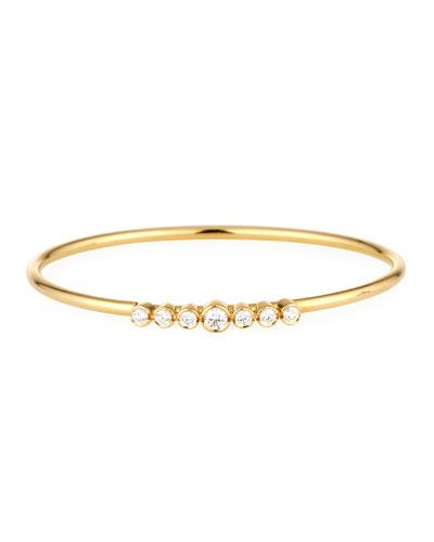 18K Gold Bracelet with Diamond Bezels