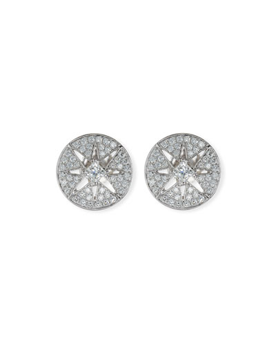 Diamond Star Button Earrings