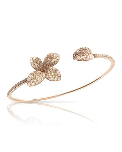Giardini Segreti Petite Diamond Bracelet in 18K Rose Gold