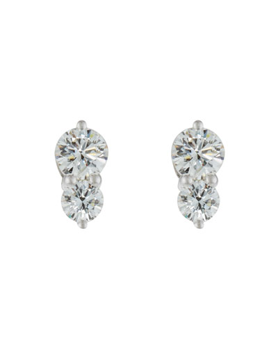 Diamond Duo Stud Earrings