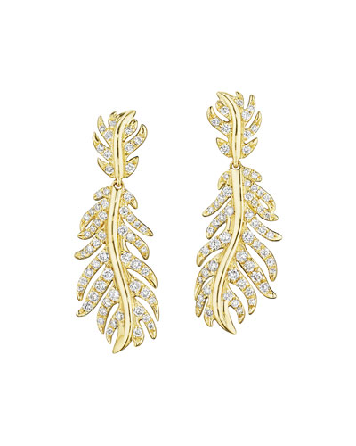 Phoenix Wavy Diamond Dangle Earrings