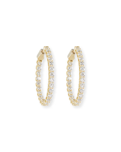 Diamond Hoop Earrings in 18K Gold