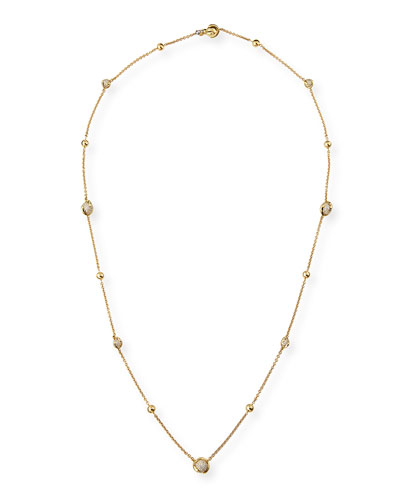 MARINA B Cardan PavÉ Diamond Station Necklace, 36""