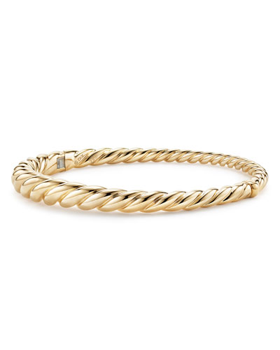 6mm Pure Form 18K Cable Bracelet, Size L