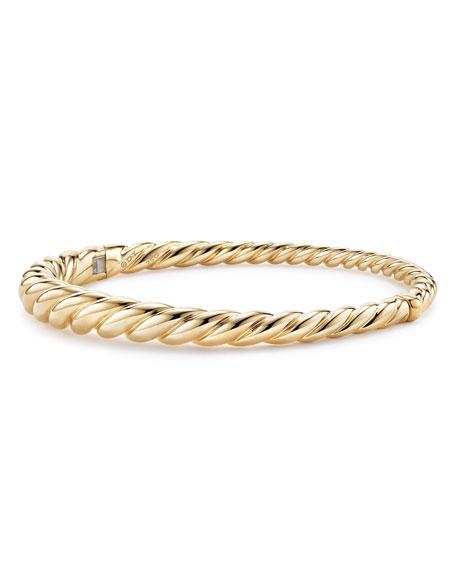 David Yurman 6mm Pure Form 18K Cable Bracelet, Size L