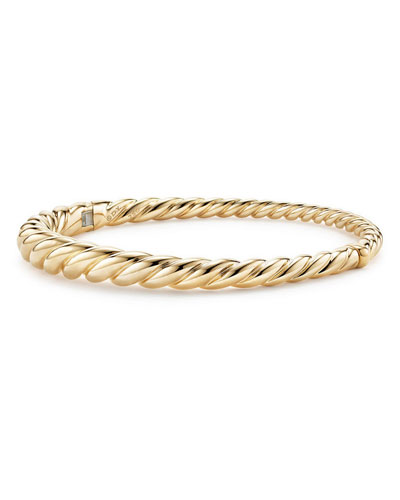 6mm Pure Form 18K Cable Bracelet, Size M