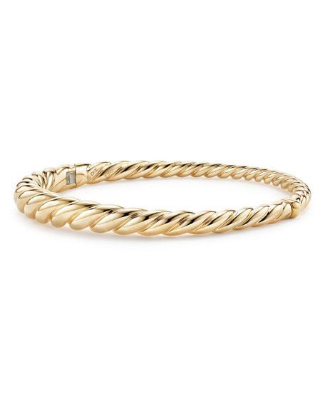 David Yurman 6mm Pure Form 18K Cable Bracelet, Size M