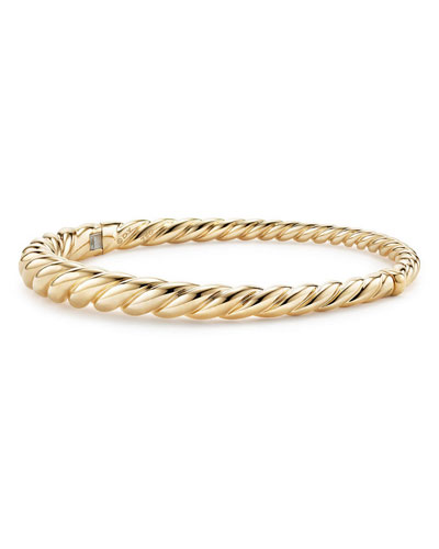 6mm Pure Form 18K Cable Bracelet, Size S