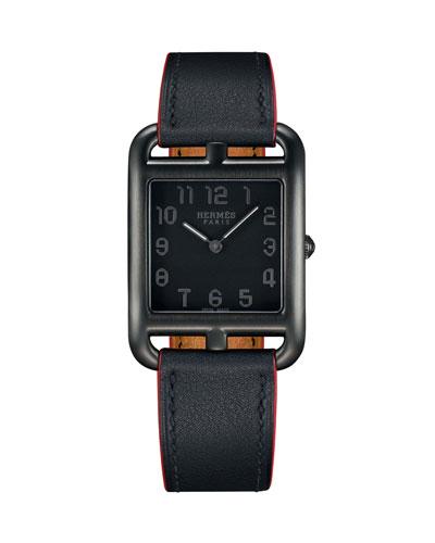 Cape Cod GM Matte Black Leather Strap Watch
