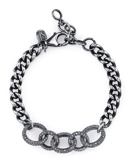 Sheryl Lowe Curb Chain Bracelet with Diamond Links