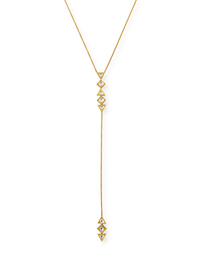 Kundan Diamond Triangle Y-Drop Necklace