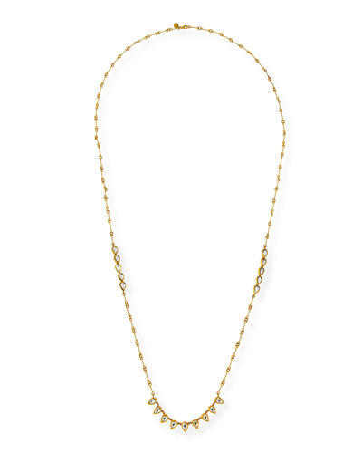 Kundan Diamond Teardrop Station Necklace