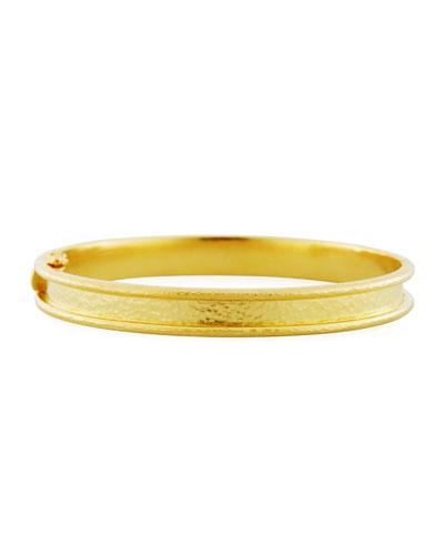 Elizabeth Locke 19k Gold Flat Thin Diamond Bangle Taai2TKfs