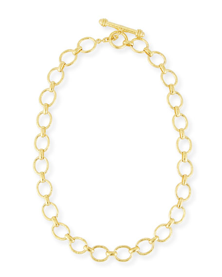 Elizabeth Locke Positano Link Necklace in 19K Gold, 17""