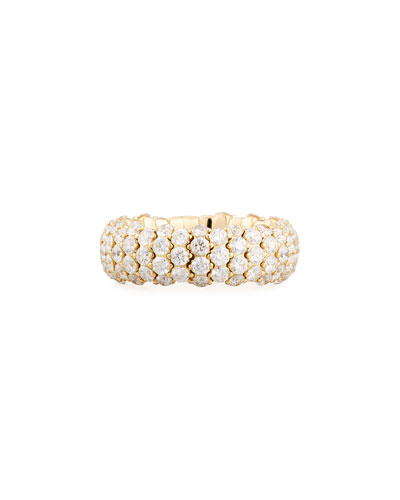 Stretchable Diamond Band Ring in 18K Yellow Gold