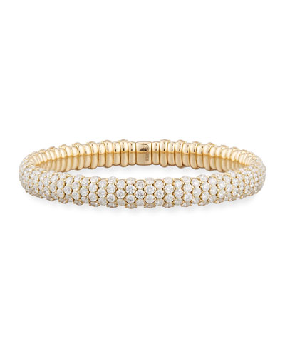 Diamond Stretch Bracelet in 18K Yellow Gold, 10.70 tdcw