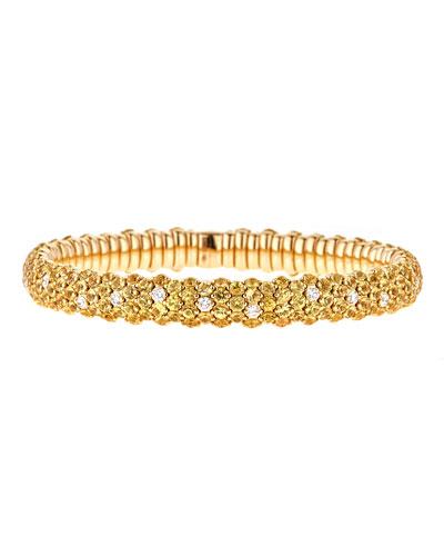 Stretch Yellow Sapphire & White Diamond Bracelet