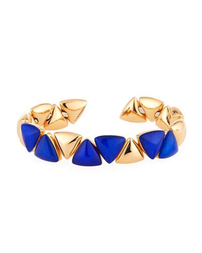 Blue Mother-of-Pearl Doublet Bracelet in 18K Rose Gold
