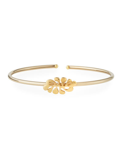 Sea Leaf Bangle in 18K Yellow Gold
