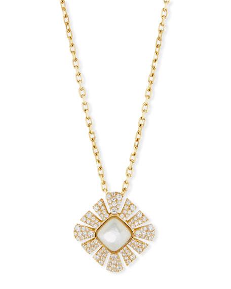Miseno Vesuvio Mother-of-Pearl & Diamond Pendant Necklace