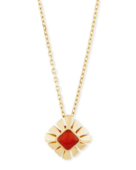 Miseno Vesuvio Carnelian & 18K Gold Pendant Necklace
