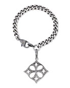 Curb Chain Bracelet with Diamond Malta Charm