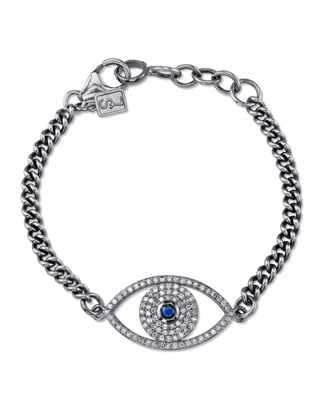 Sheryl Lowe Diamond Evil Eye Bracelet