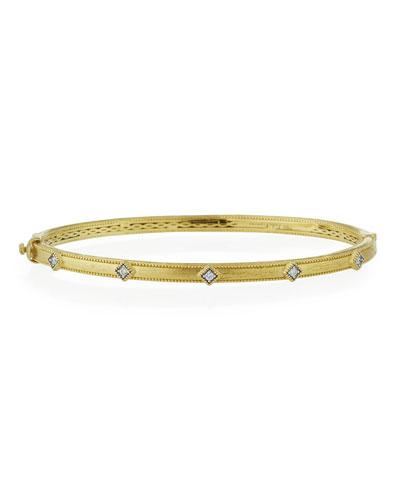 Lisse 18k Simple Diamond Bangle Bracelet