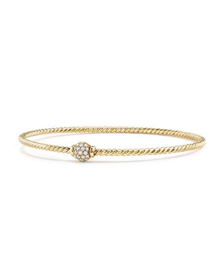 David Yurman Petite Solari Diamond Single Station Bracelet, Size M
