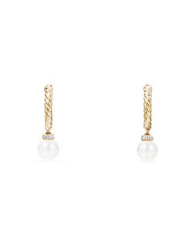 5mm Petite Solari Hoop Earrings with Pearls & Diamonds
