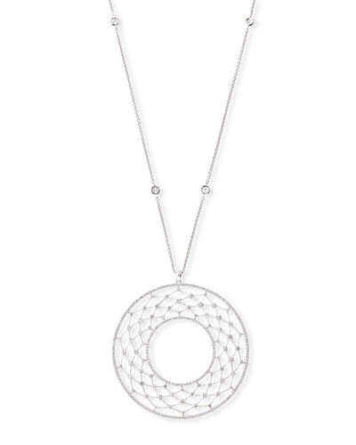 Dream Chaser Necklace with Diamonds in 18K White Gold