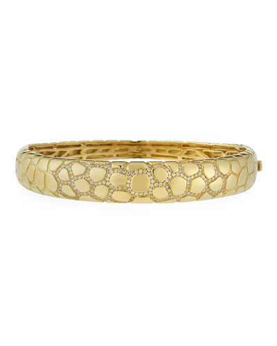 VENDORAFA ANACONDA 18K GOLD BRACELET WITH DIAMONDS