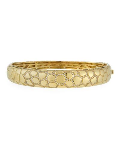 Anaconda 18K Gold Bracelet with Diamonds