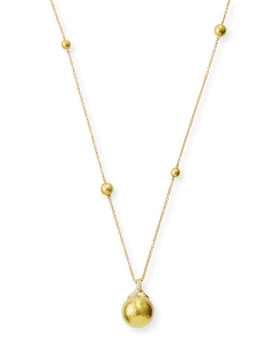Boules 18K Gold Necklace with Diamonds