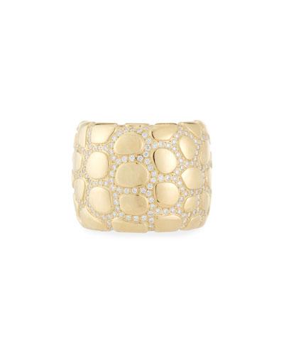 Anaconda 18K Gold Ring with Diamonds, Size 7.25