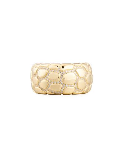 Anaconda 18K Gold Ring with Diamonds