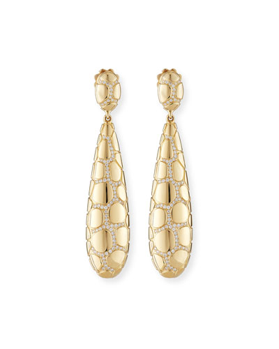 VENDORAFA ANACONDA 18K GOLD EARRINGS WITH DIAMONDS