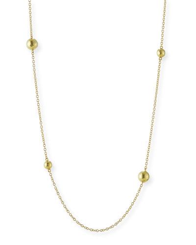 Fine Jewelry Infinite Gold 14K Yellow Gold Beaded Pendant Necklace kWr7rRmB5P