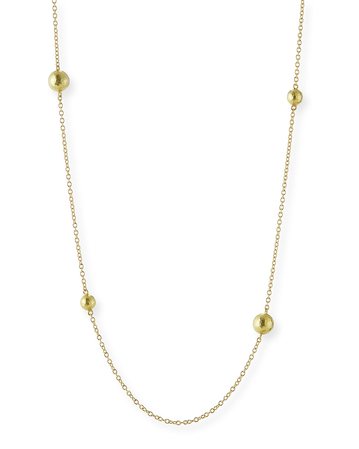 VENDORAFA SIX-BEAD 18K YELLOW GOLD CHAIN NECKLACE, 32""