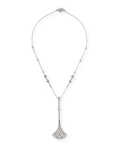 Fan-Shaped Diamond Pendant Necklace