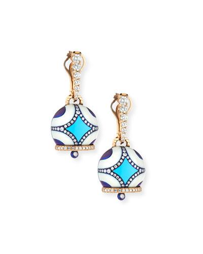 Campanella Turquoise & Diamond Earrings