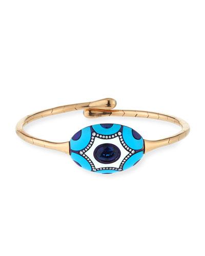 Maiolica Tita Blue Sapphire & Turquoise Bracelet with Diamonds