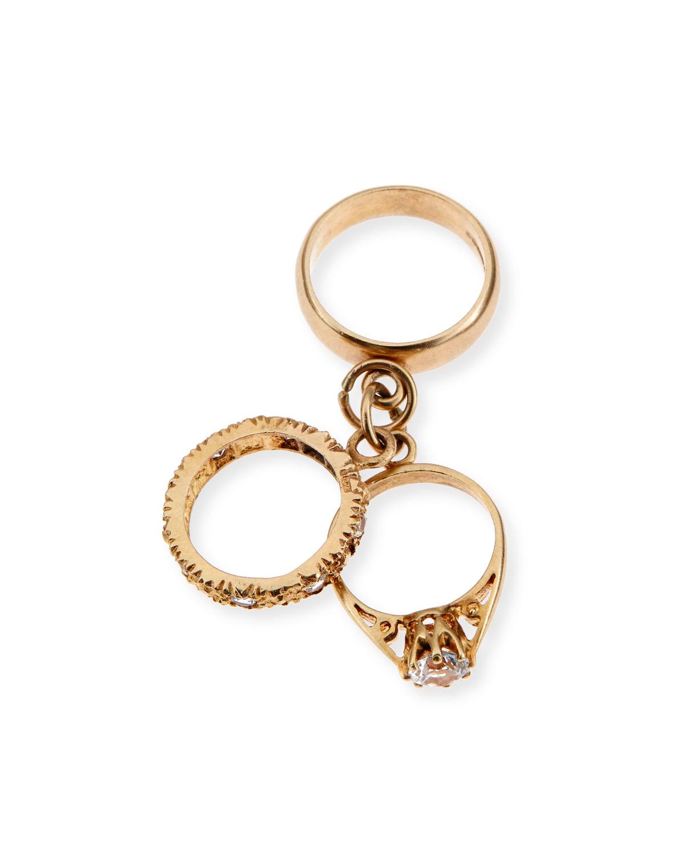 TURNER & TATLER 9K Yellow Gold Three-Ring Charm